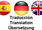 Traducciones del inglés o alemán, entrega muy rÁpida