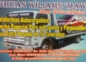Servicio de gruas y winchas wiliams valle de los chillos movi: 0999846806 claro 0989295258 las 24hrs