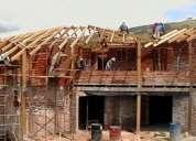 Construcción de casas, remodelaciones y trabajos en general