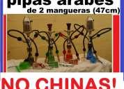 Pipas arabes nuevas y originales de 2 mangueras de oferta importadas
