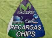 Se vend chip de recargas para claro y otro chip de recargas multimarcas