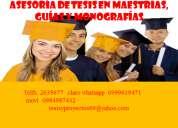 Asesoría de tesis en maestrías, guías y monografías