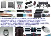 Materiales, cables, fibra optica, obturadores