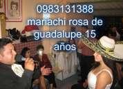 Todo el sur de quito mariachi rosa de guadalupe 0983131388 45 dolares  tenemos dos grupos