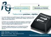 Traducciones precisas, rÁpidas y cuidadosamente editadas