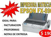 Impresora matricial epson fx-890 con cinta original