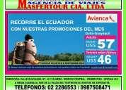 Recorre el ecuador con nuestras promociones del mes