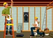 Tecnico electricista profesional a domicilio, trabajo garantizado y calificado, con experiencia