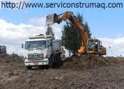 Mejoramiento de terrenos, desbroce de terrenos, apertura de vías,  0999193805