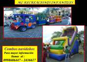 Fiestas / eventos / animaciones infantiles / tren infantil / tobogan salta salta /gusanitos