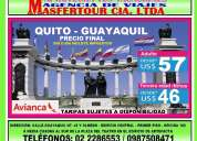 Quito-guayaquil desde 57dÓlares