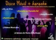 Disco móvil + karaoke