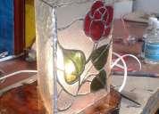 lamparas en vitral