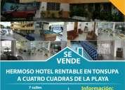 Hotel rentable en tonsupa