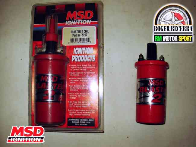 Bobinas MSD Blaster 2 45.000Amp de Puro Poder Nissan Datsun Corolla Forsa 1 y 2 Vitara Clasica