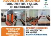 Alquiler de aulas de capacitacion, renta de aulas, salones para eventos academico y empresariales