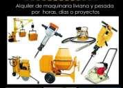 Alquiler de maquinaria para la construccion