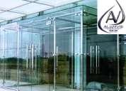 Alumvid, aluminio y vidrio ibarra , puertas, ventanas, cabinas de baño, vidrios bicelados, mamparas