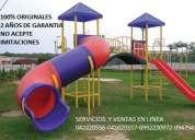 Juegos infantiles, toboganes, resbaladeras, casitas