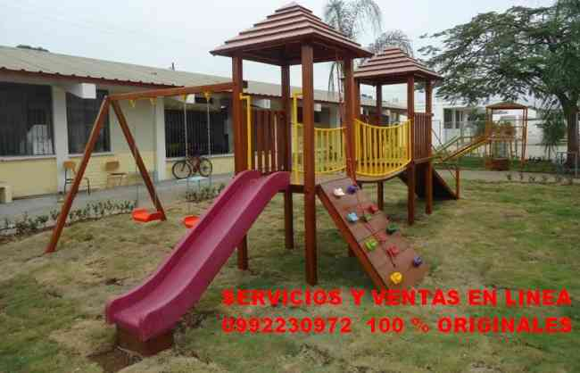 juegos infantiles de madera toboganes guayaquil doplim