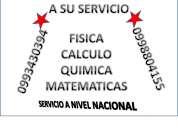 Calculo, matematicas, fisica, 0998804155 clases a domicilio y desarrollo de tareas