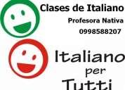Clases de italiano, cursos y tutorias