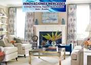 Innovaciones mercedes, cortinas quito, decoraciones para el hogar, percianas, cornisas, tubos decora