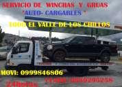 Servicio de grua y wincha  claro: 0989295258 en el valle de los chillos. 0999846806 movistar