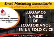 Email marketing inmobiliario envíos masivos en ecuador