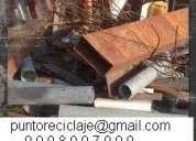 Reciclaje desde su hogar, industria, de chatarra metálica, electrónica, plástica. 0998097990