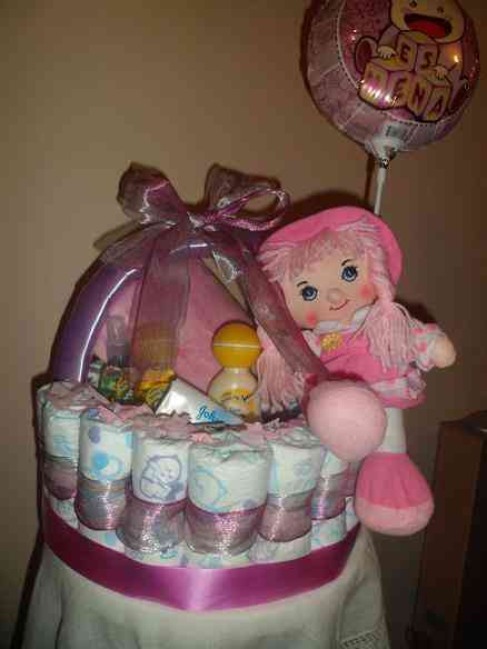 Canasto regalo pañales recién nacido niño o niña baby shower