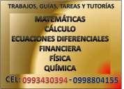 Soluciones educativas: matemÁticas, quÍmica, fÍsica, cÁlculo y afines