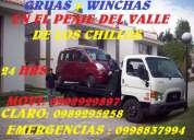 Servicio de wincha y grua las 24horas en el valle de los chillos movi: 0999846806 claro:0989295258