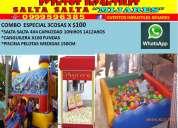 Eventos  infantiles mijares alquiler de juegos inflables saltarines brinca brinca salta salta