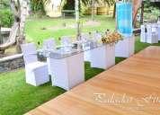 Banquetes catering organización de eventos,alquiler de toldos sillas tiffany mesas vidrio