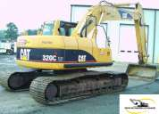 excavadora caterpillar 320cl de venta 135.000 negociables