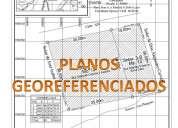 Arquitecto: planos topograficos georeferenciados en autocad, precios economicos.
