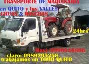 Grua, wincha,plataforma  desenbarque de vehiculos y transporte de maquinaria clar: 0989295258  quito