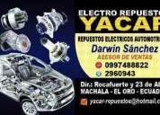 Excelente electro repuestos yacar