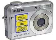 Vendo cámara sony cybershot dscs650 7.2 megapixeles