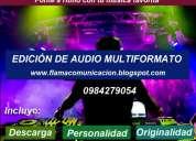 EdiciÓn de audio multiformato,consultar!