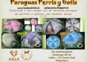 venta de paraguas de perros y gatos