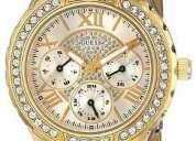 Reloj guess u0111l2 dorado para mujer.