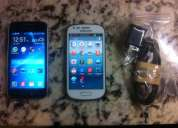 Vendo samsung ace 4 negro y s3 mini blanco