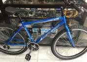 Vendo bicicleta de acero aluminio aro 26 componentes shimano