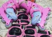 Vendo patines color rosa