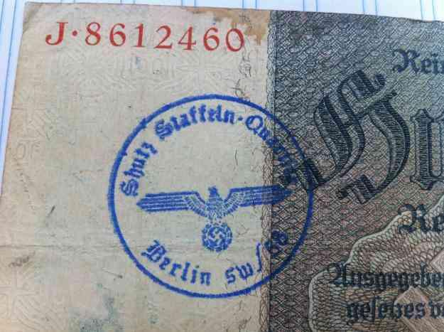 Vendo billetes alemania hitler, unicos en el pais resellados