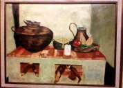 Vendo oleo sobre lienzo a espatula  cuadro de 1070