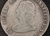 Excelente moneda ecuador 4 reales 1857