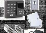 Vendo kit control de acceso biometrico o tarjeta o pin lectora destrabador de puerta tarjetasfuente